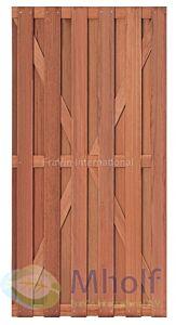 Hardhouten tuindeur Leeuwarden 180x90cm