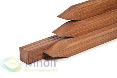 Azobé hardhout tuinpaal met punt 8.5x8.5x305cm