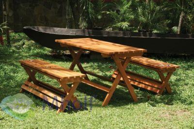 Hardhouten picknickset Easy inklapbaar