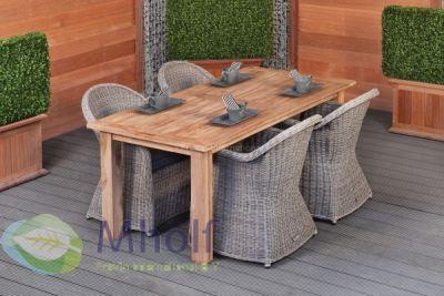 Teak dinner tafel Rustiek 180x90cm