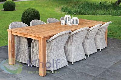 Teak dinner tafel Modern 250x100cm