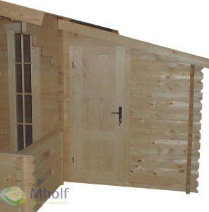 Houten blokhut aanbouw 30 163x300 cm - 28 mm