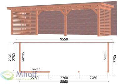 Aanbouwveranda_Lucca_9550x3250x2600mm_FraVin