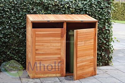 Containerberging dubbel hardhout 150x75x135cm