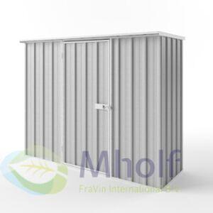 Metalen tuinkast - Endurashed - zilvergrijs - 225x78cm