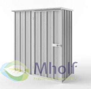 Metalen tuinkast - Endurashed - zilvergrijs