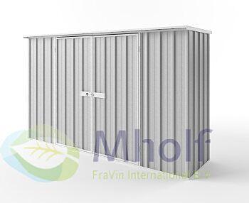 Metalen tuinkast - Endurashed - zilvergrijs - 300x78cm