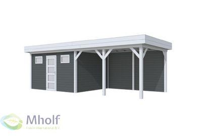 Hillhout Topvision Kievit met luifel 5 of 6 m grijs-antraciet