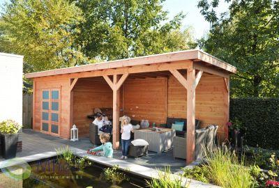 Hillhout tuinhuis Bonte specht 5 m