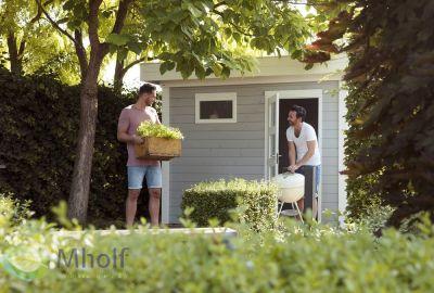 Hillhout tuinhuis kuifmees