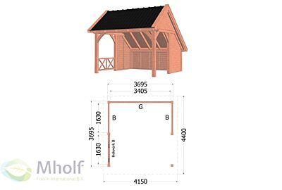 Kapschuur De Hoeve XL 4150x4400x3750mm