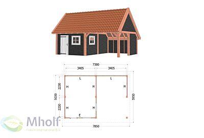 Kapschuur De Hofstee XXL 7850x5950x4600mm