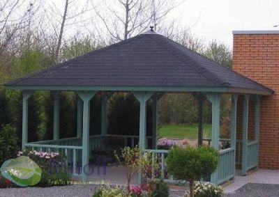 Vrijstaande veranda / prieel 420x420 cm
