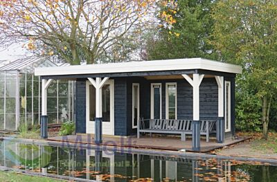 Lugarde tuinhuis Prima Bremen 420x600cm - 28mm