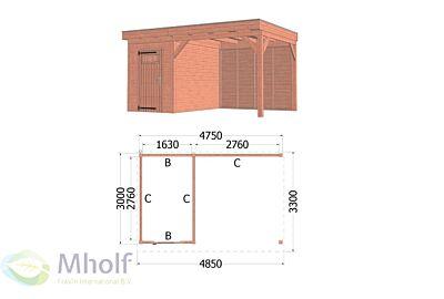 Trendhout Casa 2 - 4850x3300mm - Mholf.nl