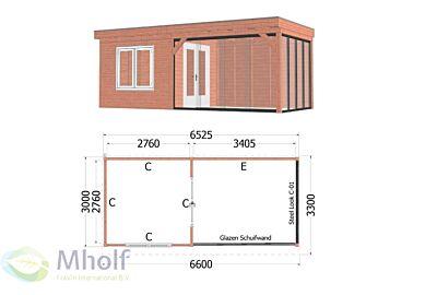 Trendhout Casa 5 - 6600x3300mm - Mholf.nl