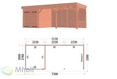 Trendhout Casa 6 - 7300x3300mm - Mholf.nl