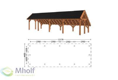 Trendhout Kapschuur De Hoeve XL 12170mm (1)