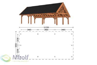 Trendhout Kapschuur De Hofstee XXL 11250mm uitvoering 1