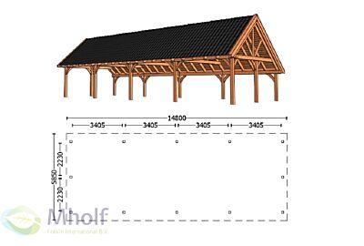 Trendhout Kapschuur De Hofstee XXL 14800mm (1)