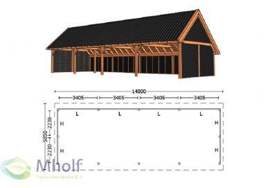 Trendhout Kapschuur De Hofstee XXL 14800mm (2)