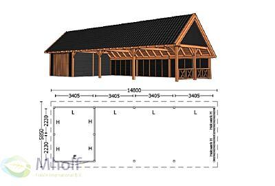 Trendhout Kapschuur De Hofstee XXL 14800mm (3)