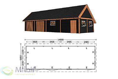 Trendhout Kapschuur De Hofstee XXL 14800mm (6)