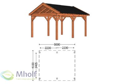 Trendhout Zadeldak L 5000mm (1)