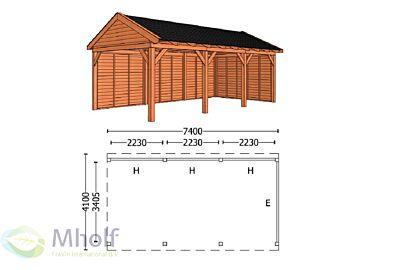 Trendhout Zadeldak L 7400mm (2)