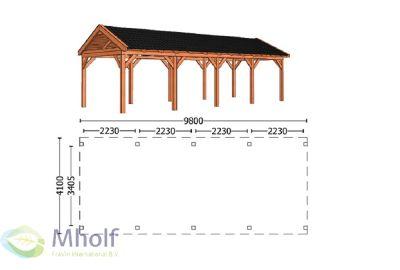 Trendhout Zadeldak L 9800mm (1)