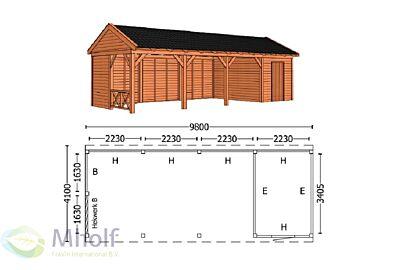 Trendhout Zadeldak L 9800mm (3)