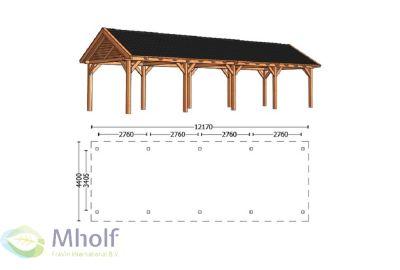 Trendhout Zadeldak XL 12170mm (1)