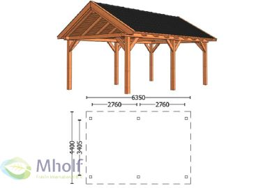 Trendhout Zadeldak XL 6350mm (1)