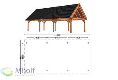 Trendhout Zadeldak XXL 11250mm (1)