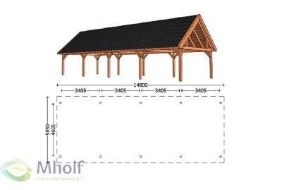 Trendhout Zadeldak XXL 14800mm (1)