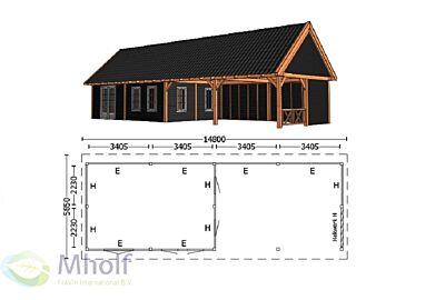 Trendhout Zadeldak XXL 14800mm (5)