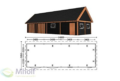 Trendhout Zadeldak XXL 14800mm (6)