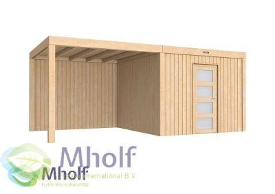 Hillhout Portland Excellent + 4 m luifel - Mholf.nl