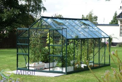 Tuinkas Jupiter 11500 in Groen wit glas